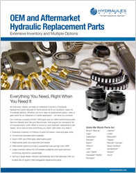 Click to view our Replacement Hydraulic Parts Cut Sheet
